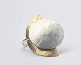 ECLISSI anello ciondolo acciaio bronzo argento