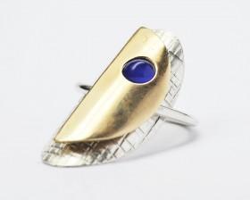 LUNATICA anello ciondolo argento bronzocorniola