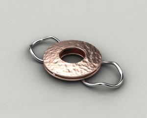 Rendering anello disco martellato1