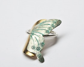 anello ciondolo LuniFarfalla2