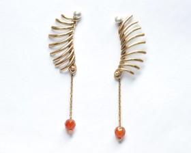 orecchini bronzo corniola