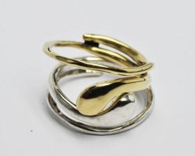 snake anello argento -anello bonzo