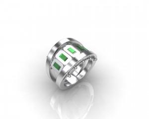 rendering anello modulare con castoni mobili regolata